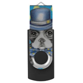 Clé USB Point de polka de Boston Terrier