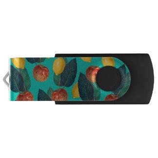 Clé USB pommes et citrons turquoises
