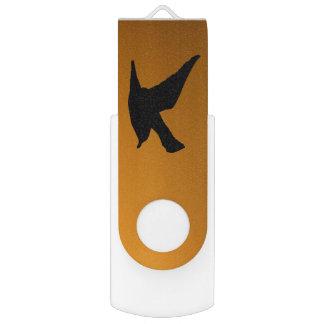 Clé USB Vers jaune de bible de foi d'oiseau de ciel de