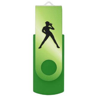 Clé USB Vert de danse moderne