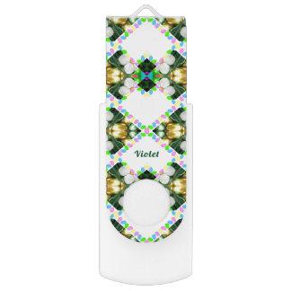 Clé USB ~ VIOLET ~Personalised par motif abstrait d'oeuf