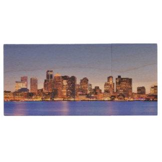 Clé USB Vue de secteur financier de Boston du centre