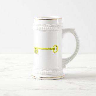 Clé vintage mug à café