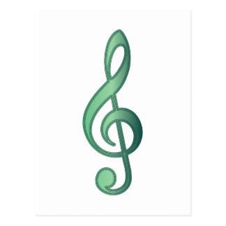 Clef triple de vert de jade cartes postales