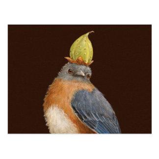 Cleome la carte postale d'oiseau bleu