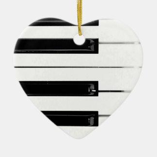 Clés de clavier de piano ornement cœur en céramique