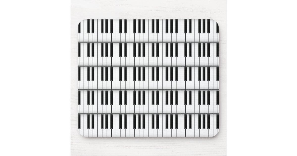 Cl s de clavier piano mousepad fait sur commande tapis for Surface minimum bureau code du travail