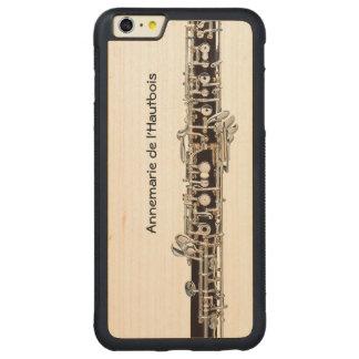 Clés de hautbois, nom personnalisable coque carved® pare-chocs en érable pour iPhone 6 p