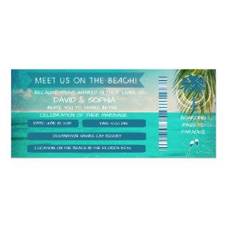 Clés de la Floride sur la carte d'embarquement de Carton D'invitation 10,16 Cm X 23,49 Cm