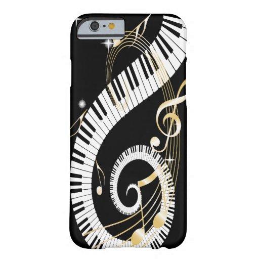 Clés de piano et caisse d'or de l'iPhone 6 de Coque iPhone 6 Barely There
