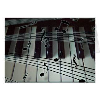 Clés de piano et notes de musique