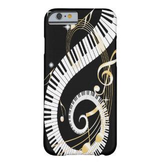 Clés de piano et notes d'or de musique coque iPhone 6 barely there