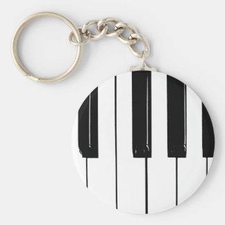 Clés de piano porte-clé rond