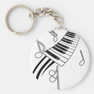 Clés musicales porte-clé rond