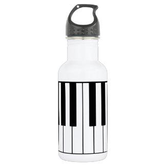 clés musique-orientées de piano bouteille d'eau