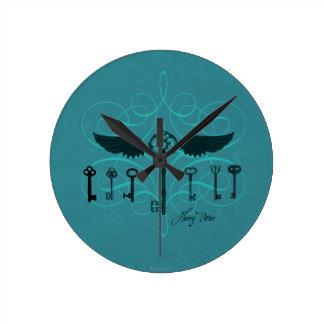 Clés volantes du charme | de Harry Potter Horloge Ronde