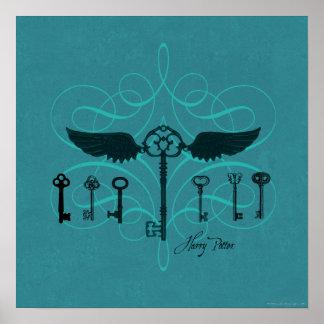 Clés volantes du charme | de Harry Potter Poster