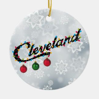 Cleveland en ornement rond PERSONLIZE de lumières