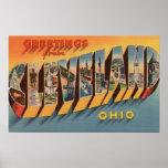 Cleveland, Ohio - grandes scènes 2 de lettre Posters