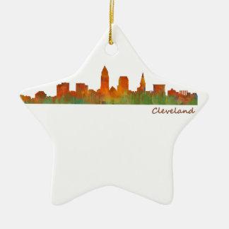 Cleveland Ohio UTILISE Skyline ville v01 Ornement Étoile En Céramique