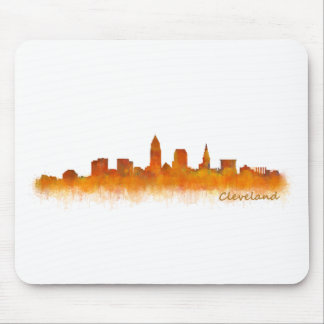 Cleveland Ohio UTILISE Skyline ville v02 Tapis De Souris