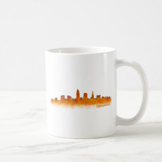 Cleveland ville US skyline watercolor Mug