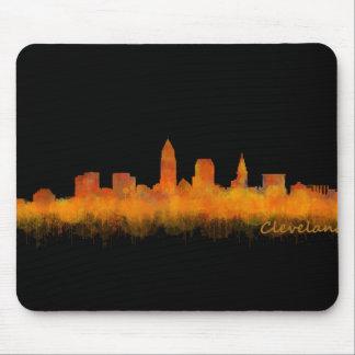Cleveland ville US skyline watercolor Tapis De Souris