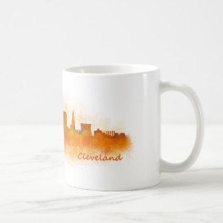 Cleveland ville US skyline watercolor v3 Mug