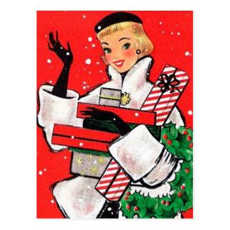 Client de Noël d'années '50 Carte Postale