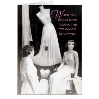 Client vintage des années 50 : Vous avez obtenu Carte De Vœux