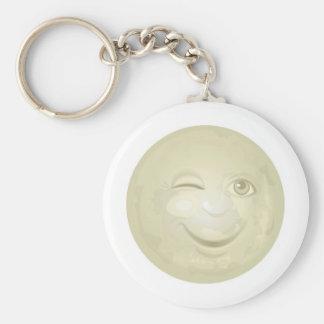 Cligner de l'oeil le visage de lune de miel porte-clés