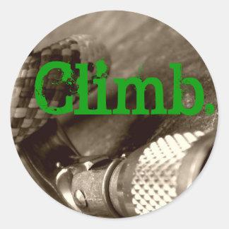 Climb2 Sticker Rond