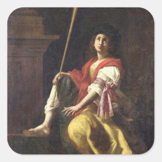 Clio, Muse de l'histoire, 1624 Sticker Carré