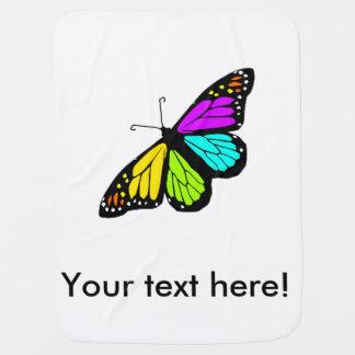 Clipart coloré de papillon couverture de bébé