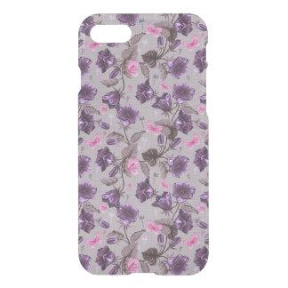 cloches de main violettes et motif de papillons coque iPhone 7
