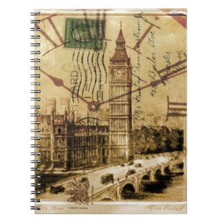 Clocktower grand Ben de pont de tour de Londres Carnets À Spirale
