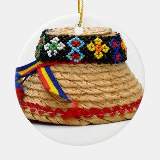 clop le casquette traditionnel ornement rond en céramique