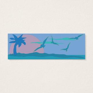 Clôture bleue de site Web de thème de paradis Mini Carte De Visite