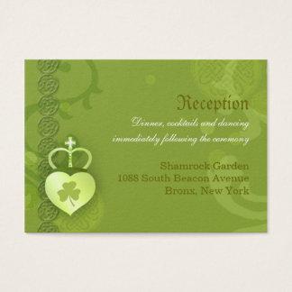 Clôture irlandaise de réception de mariage cartes de visite