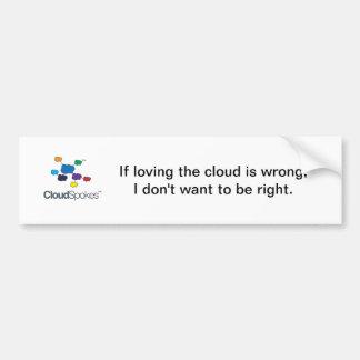CloudSpokesLogo (1), si aimer le nuage est wro… Autocollant Pour Voiture