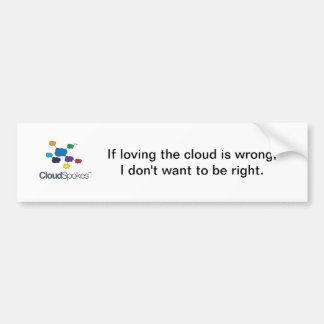 CloudSpokesLogo (1), si aimer le nuage est wro… Autocollant De Voiture