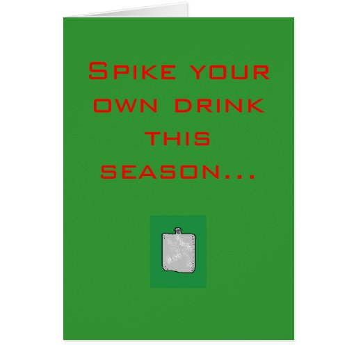Clouez votre propre boisson cette saison… carte de vœux
