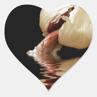 Clous de girofle d'ail d'ail sticker cœur
