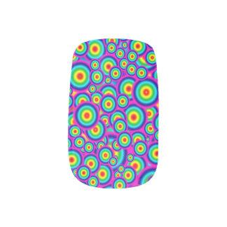 Clous psychédéliques psychopathes stickers pour ongles