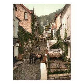 Clovelly, Devon du nord, Angleterre c.1895 Carte Postale