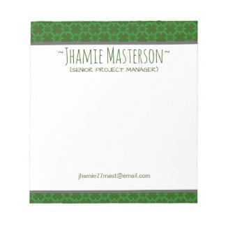 Cloverline vert personnalisé blocs notes