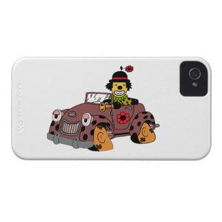Clown dans la voiture coques Case-Mate iPhone 4