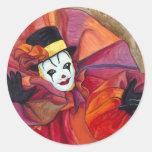Clown de carnaval autocollants
