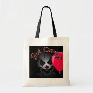 clown de Halloween et sac fourre-tout mauvais à