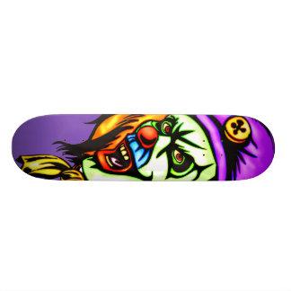 Clown mauvais mortel plateaux de skateboards customisés